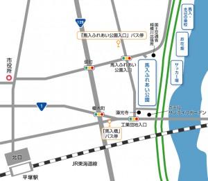 周辺地図とバス停_画像